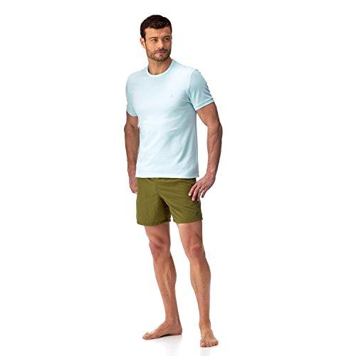 Vilbrequin Einfarbiges T-Shirt Aus Baumwollpikee mit Rundhalsausschnitt - Herren Frost Blue