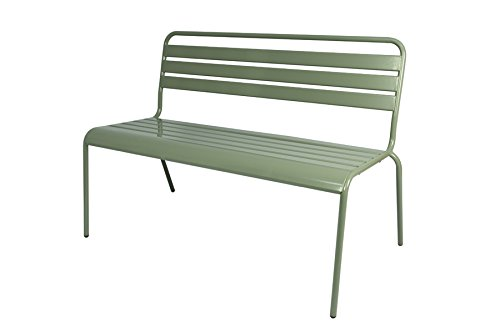 MaximaVida Gartenbank Max, Hergestellt aus Stahl - 120 cm, stapelbar, Farbe Mausgrau