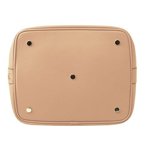 0e703caac5 ... Tuscany Leather Vittoria Borsa secchiello da donna in pelle Ruga -  TL141531 (Blu scuro) ...