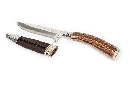 Trachtenmesser, Jadmesser, Hirschfänger, Echthorn, Gravurplatte, Edelstahlklinge 9cm (Horn)