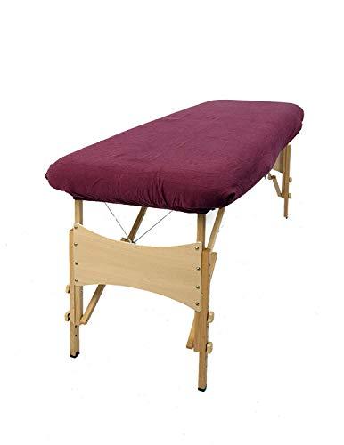 TowelsRus Aztex Housse élastique en polycoton pour table de massage sans trou pour le visage Aubergine