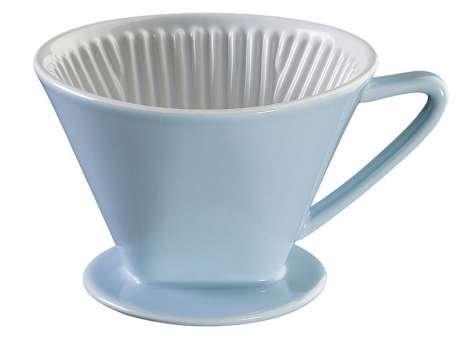 Cilio Kaffeefilter Pastell-Blau Größe 4