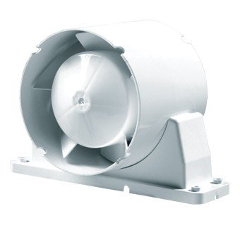In-Line Axial Fan 5 dia c/w mounting foot & Timer by VENTS