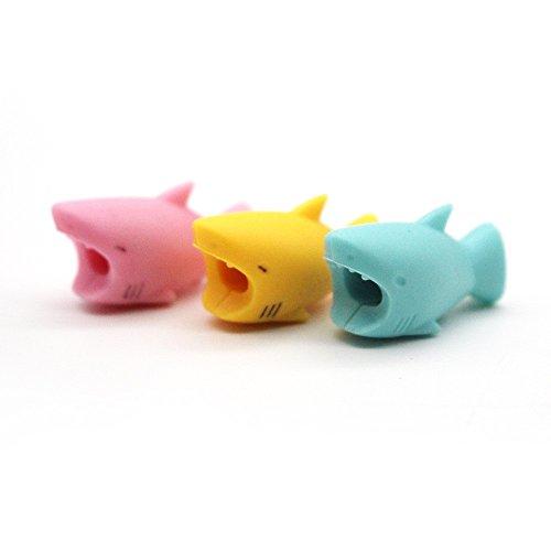 TAOtTAO Stil Zufallsprinzip Versand Mehrfache Kombinationen Kabel-Schnur-Schutz-Schutz-Unterstützung, prevently neues kreatives nettes Tierkabel-Biss für Iphone Kabel-Schnur-Telefon-Zusatz schützt (G-3 PCS)