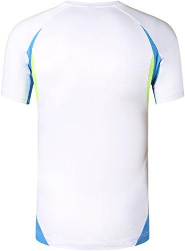 jeansian Herren Sportswear Quick Dry Short Sleeve T-Shirt LSL020 LSL147_White