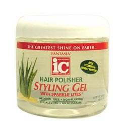Hair Polisher Styling Gel with Sparkle Lites Jar