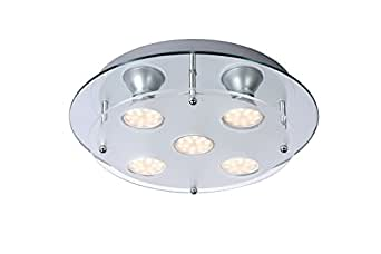 Lucide READY-LED - Plafonnier - Ø 30 cm - LED - GU10 - 5x3W 3000K - Chrome