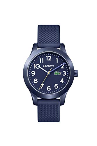 Lacoste Unisex-Kinder Datum klassisch Quarz Uhr mit Silikon Armband 2030002