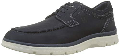24 HORAS 10593, Zapatos de Cordones Derby para Hombre, Azul Marino 5, 43 EU