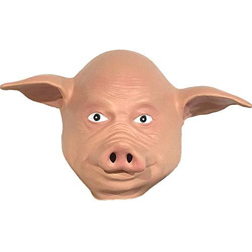 Rwdacfs Masken für Erwachsene,Cute Pig Maske Make-up Party Latex Kopfschmuck Cosplay Leistung Requisiten