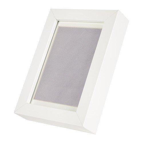 """IKEA Glas-Bilderrahmen \""""Ribba\"""" weiß 17x12cm für 10x15 cm bzw. 8x12 cm Bilder mit Passepartout"""