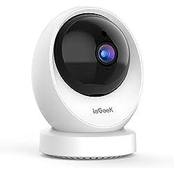 ieGeek Cámara de Vigilancia WiFi Interior, Cámara IP WiFi 1080P HD, Detección Humana, Grabacion Continua, Audio de 2 Vías, FHD, Sensor de Movimiento, Vigilabebes Audio, Monitor para Bebe/Perros