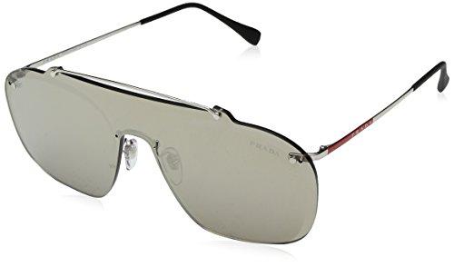 Prada Sport Herren 0PS51TS 1BC128 37 Sonnenbrille, Silber (Silver/Brown Gold)