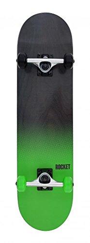 "Rocket Fade Series - Skateboard completo - 19,7 cm (7.75"") - nero/verde"