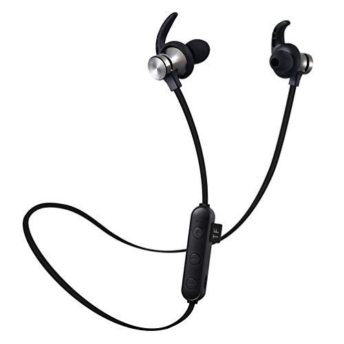 Ching Bluetooth KopfhöRer Ipx5 Sweatproof Sport Mit Micearbuds Im Mikrofon Ohr GeräUsch Das FüR Laufen Der Turnhalle Androiden Ios,Black