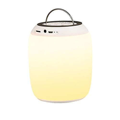 YXZN 7 Cololrs Bluetooth Speaker Colorful Music Night Light Outdoor Warm Light Smart Portable Schwarz Portable Speaker