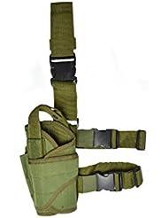 Funda para pistola para pierna; Izquierda (Verde)