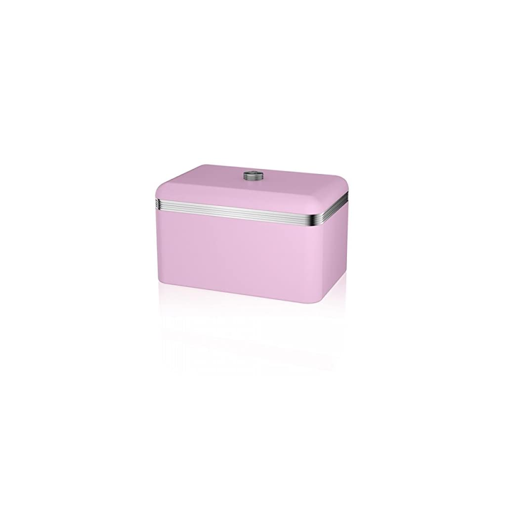 Swan Products Retro Pink Bread Bin
