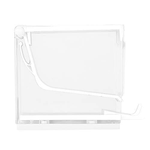 Dispensador de rollo de algodón divisor de prensa tipo Holder 4 colores Cajita de almacenaje para bastoncillos de algodón(blanco)
