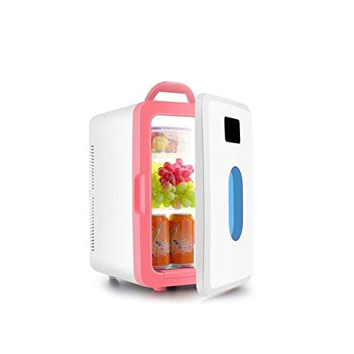 Autokühlschrank 16-Liter-Kühlschrank mit elektrischer Kühlbox, kompakter Kühl- / Wärmepumpe, Minikühlschrank mit Dual-Core-Kühlung für Autos, Autoreisen, Privathaushalte, Büros und Schlafsäle (AC & DC -