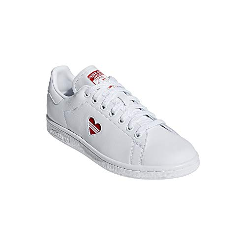 adidas Stan Smith W, Chaussures de Gymnastique Femme, Bianco Active Red/FTWR White, 39 EU