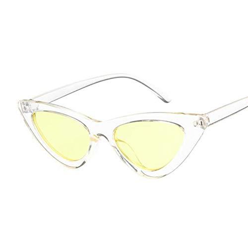 Kjwsbb Kleine Damen Sonnenbrille Frauen Vintage Spiegel Sonnenbrille weiblich uv400