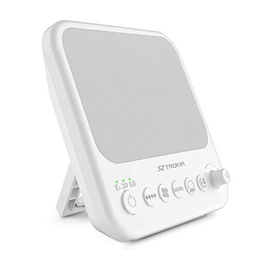 SZTROKIA Máquina de ruido blanco, Máquina de terapia de sueño natural para bebés, Cargador de salida USB (blanco)