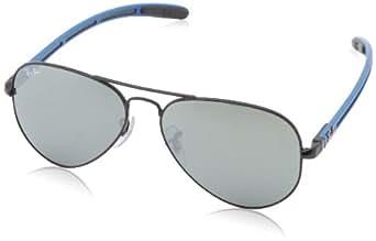 Ray-Ban 8307 006/40 Matte Black 8307 Aviator Sunglasses