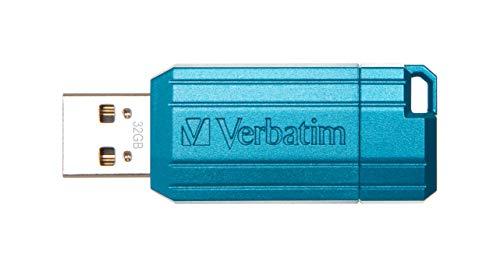 32GB USB Flash 2.0 PIN Stripe Store'n'Go Blue Verbatim P-blist