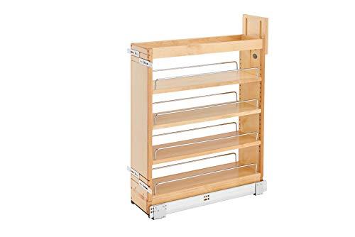 Rev-A-Shelf 448-BCSC-6C Schubladenschrank, ausziehbar, mit Soft-Close-Gleitern, 15,2 cm, Natur