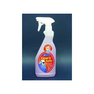 Johnson's Clean 'n' Safe Disinfectant for Cage Birds Johnson's 6 x Bird Clean 'n' Safe Disinfectant 500ml 31GlOeN1pEL