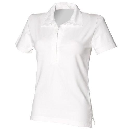 Front Row - Polo 100% Cotone - Donna Blu navy