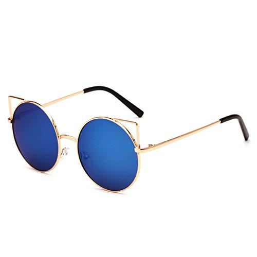 LQABW 2018 New Square Lunettes De Soleil Funky Vintage Polarized UV 400 Protection No Glare Sunglasses,A