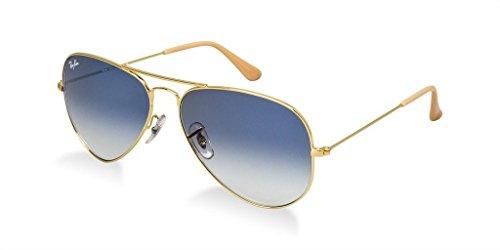 Ray-Ban RB3025 Large Metal Aviator Sunglasses Bundle - 2 Items