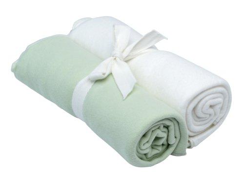 Under The Nile Swaddle Blanket Set, Green/White