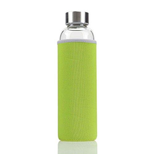 Trinkflasche Sportflasche Wasserflasche Fahrradflasche Getränkeflasche 550 ML (grün)