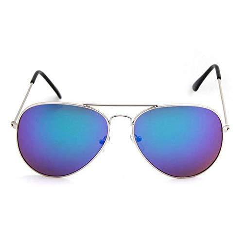Szblk Polarisierte Sonnenbrille Fahren Sonnenbrille Kunststoff Sonnenbrille Angeln Sonnenbrille Mode Retro ovale Brille (Color : Blue)