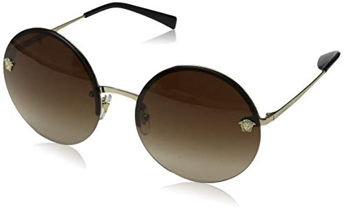 Versace Damen 0VE2176 125213 59 Sonnenbrille, Pale Gold/Browngradient