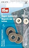 3 Magnet-Annähknöpfe altmessing 19 mm