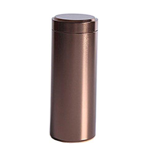 Homyl Kaffeedose/Teedose rund mit Bügelverschluss, Vorratsdose aus Aluminiumlegierung 11,9 cm * 4,5...