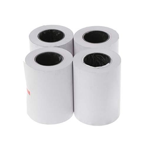 4 rollos papel térmico 57 x 50 mm impresora térmica