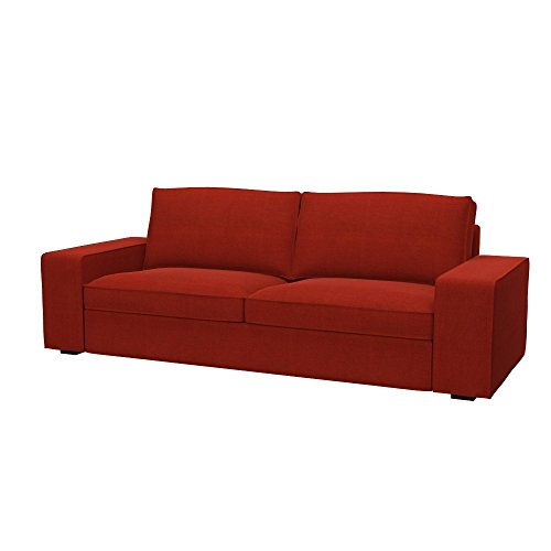 Soferia - IKEA KIVIK Funda para sofá de 3 Plazas, Elegance Dark Orange