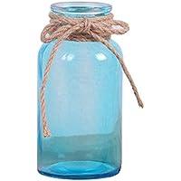 Outflower Estilo Sencillo Florero de Vidrio sólida Florero de Cristal del Escritorio Flores Artificiales de contenedores