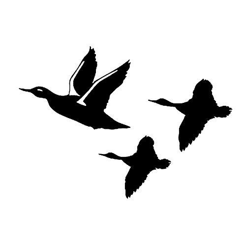 TANJINLOU Totem Auto Aufkleber Wasserdicht Sonnencreme Reflektierende Aufkleber 15 * 11 cm Ente Fliegen Auto Aufkleber Aufkleber Kreative Dekorative Vögel Jagd Wasservögel Motorrad Auto Aufkleber -