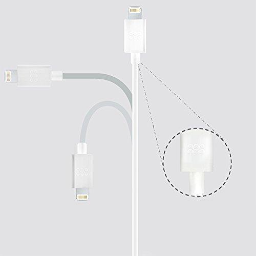 Promate linkMateLT Apple certificato MFI USB per cavo di sincronizzazione e ricarica - pesca White