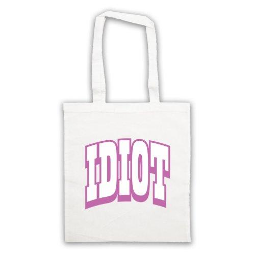 Idiot Slogan divertente borsa White