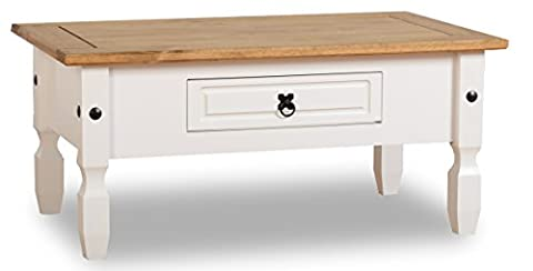 ValuFurniture Corona Table basse à 1tiroir–Blanc