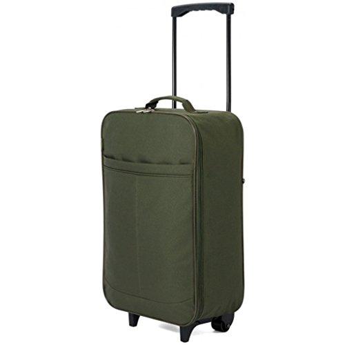 Faltbar klein Reisetasche mit Rollen Koffer Reise Gym Sport Damen Schwangerschafts Tasche 4607 Khaki