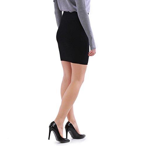 La Modeuse - Jupe courte côtelée Noir