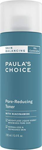 Paula\'s Choice Skin Balancing Gesichtswasser - Toner Mattiert Fettige Haut & Verkleinert die Poren - Bekämpft Unreine Haut & Mitesser - mit Niacinamid - Mischhaut bis Fettige Haut - 190 ml